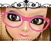 50s Nerd Glasses Pink