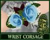 Wrist Corsage Sky Blue