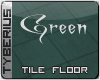 Green tile floor