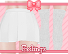🎀 School skirt white