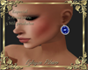 earring blue diamond