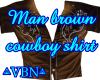 Man brown cowboy shirt