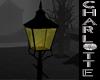 Street lamp candlelit
