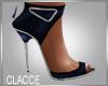 C navy blue heels