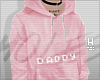 H | pink daddy hoodie