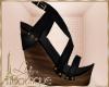 {liz} Black Sandals