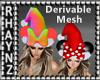 Santa Hat Bow/Ears Mesh
