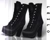 ! L! Black Boots