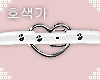 White Heart Kitty Collar