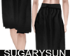 /su/ SATIN PLEATED BLACK