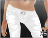RS*White Leather Pants