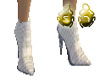 White Snake Heels Male