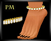 PM}Diamond Gold Anklet L