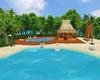 Playa, piscina y bar