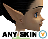 ANY SKIN Elf Ears Long F