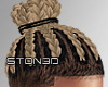 Blonde Braided Bun '17