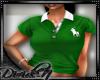 D: Green/W Polo Womens