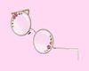 Rose Charm Glasses Gold
