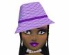 Purple passion hat