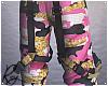Pink Glitter Cargo Pants