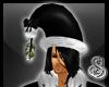 Ani Black Santa Hat