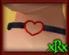 Leather Choker Heart Red