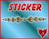 s666 heart divider gold1