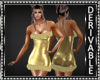 Gold Fur Mini Dress Mesh