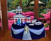 Royal Blue Wedding Cake