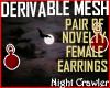 Fem Novelt Earrings Mesh