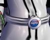 White Sm Space Logo Belt
