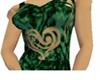 Velvet Heart Dress green