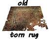 !Old worn carpet