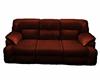 Red dark sofa no pose
