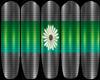 GG: Green Flower Nails