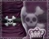 (P712) Skull Top-Purple