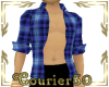C50 open blue paid shirt