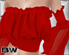 Red Ruffle Blouse