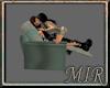~MiR Crackle Kiss Chair