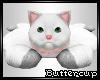 *B* White Kitty Rug