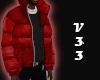 Red+Black Puffer M