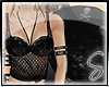 !S Skull Net Top Black