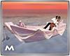 Romantic pink boat