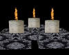 B & W Art Deco Candles