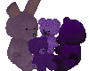 purple plushies