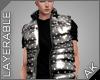 ~AK~ Puff Vest: Black