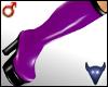 PVC boots purple (m)