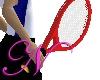 ~N~ Red Tennis Racket