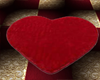 Heart Rug Red