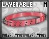 Lyr Spike Belt Red .m.